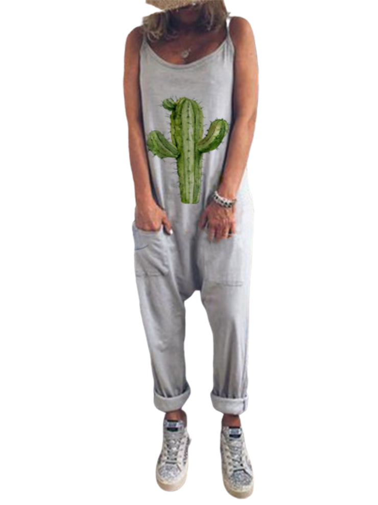 Gray Cactus Jumpsuits