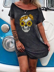 Women Casual Skull Dresses