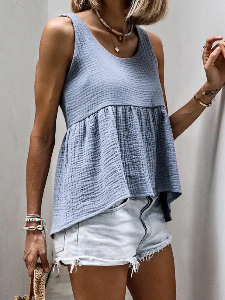Women Summer Sleeveless Casual Tank Tops