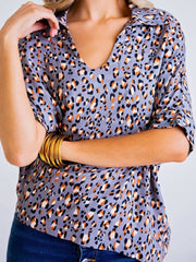 Women Animal Printed Shift Blouses