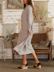 Light Gray Shift Casual Dresses
