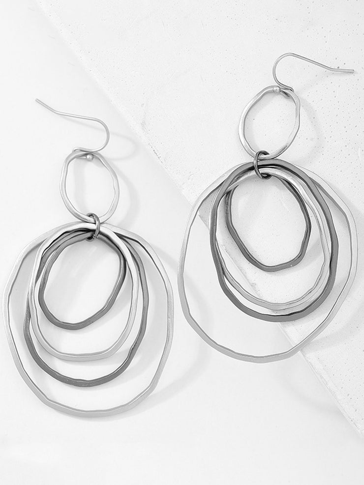 Women Vintage Exaggerating Alloy Drop Earrings