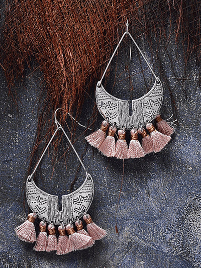 Women Tassel Alloy Drop Earrings