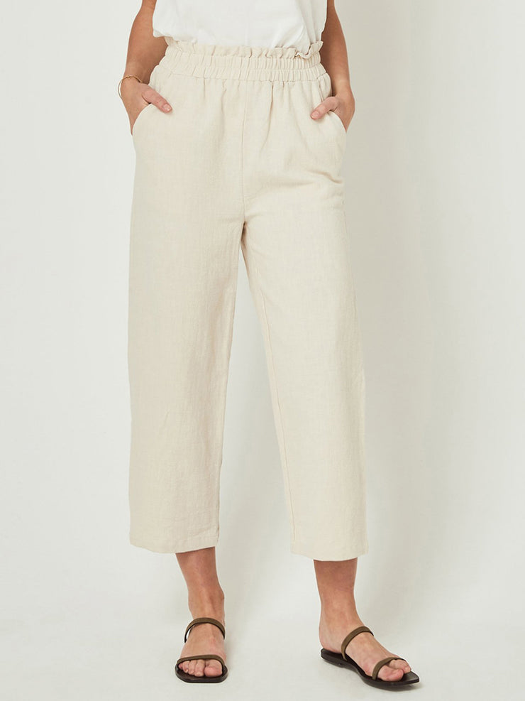 Apricot Casual Plain Pants