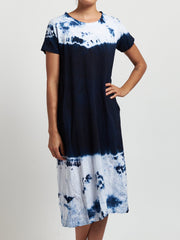 Gradient printed casual plus size dress