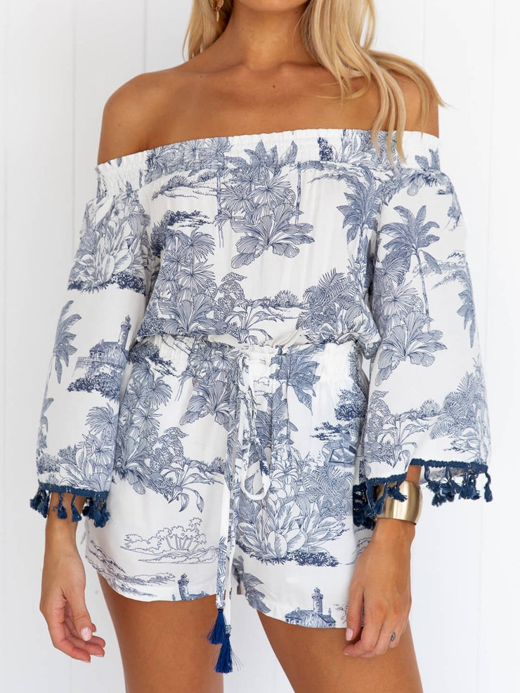 Women Plus Size Playsuit Paneled Boho Romper