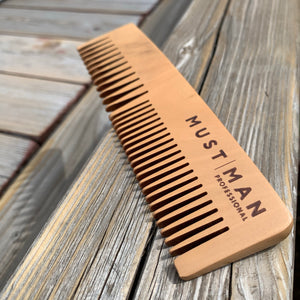 Wood Comb Must52, Peigne bois Must man