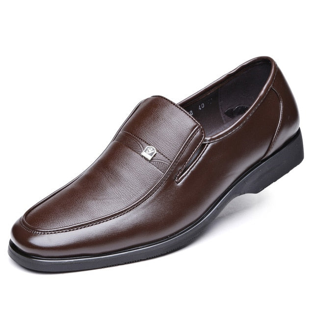 Classic Leather Round Toe Dress Shoes