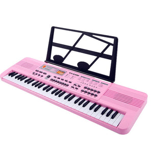 61 key children electronic piano small size keyboard with microphone