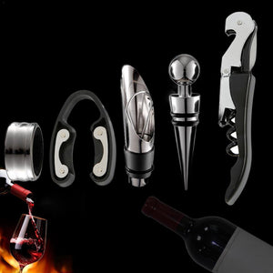 Wine Opener Kit Set including 5 pcs tool Stainless Steel