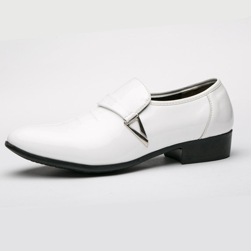 Mens Italian Leather Slip On Moccasin Shoes
