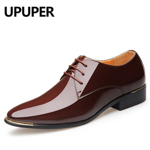 Men's Patent Leather Oxford Dress Shoes