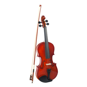 Acoustic Violin 1/4 Full Size Wood Fiddle With Bow Carry Case Kits for Musical Lover Student