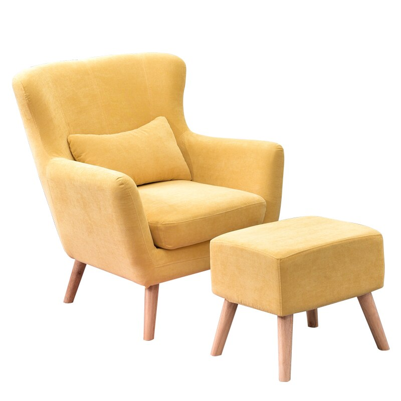 Nordic Accent Chair with Footstool