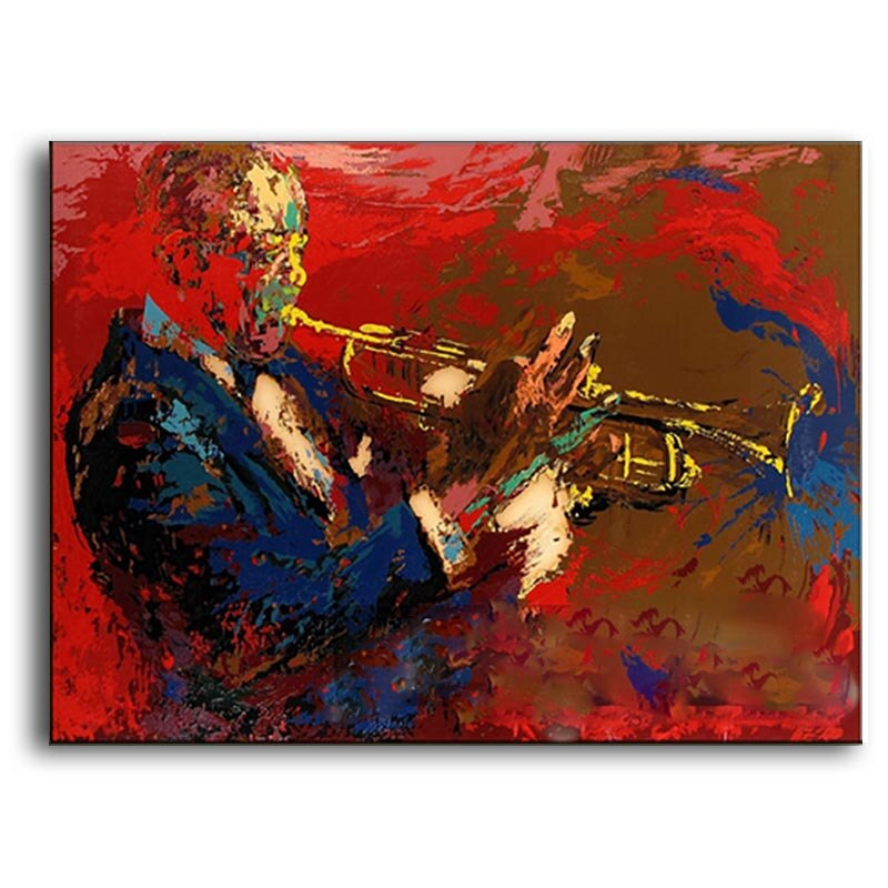 Handmade Abstract High Quality Music Performers Oil Painting