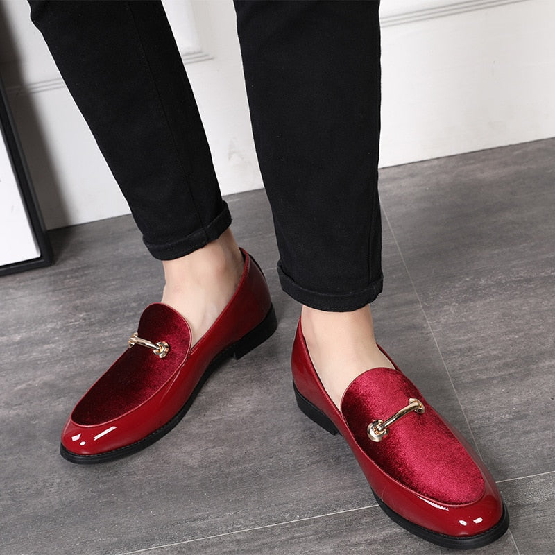 Mens Patent Leather Oxford Loafer Shoes