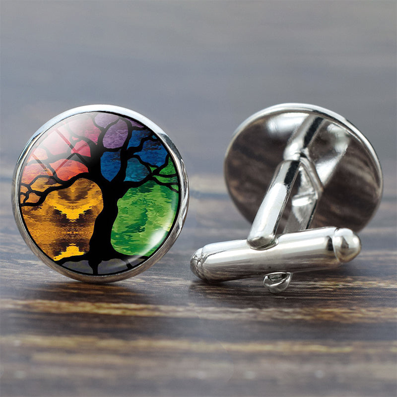 Tree of Life Silver Cufflinks for Men