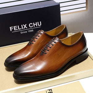 Luxury Brand Designer Genuine Leather Mens Wholecut Oxford Shoes