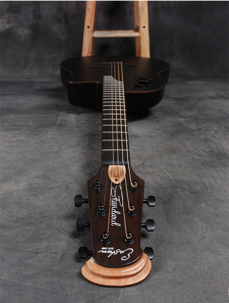 New Folk Electric Box High Quality Carbon Fiber Guitar Solid Spruce Grape Hole 6 Strings