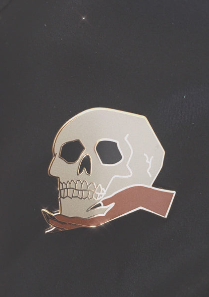 How's Your Head? Skull Pin