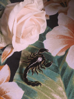 Scorpion Rose Enamel Pin