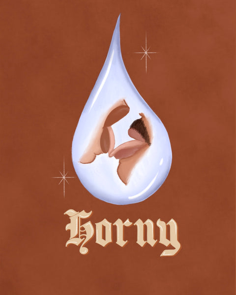 Water Drop Horny Print