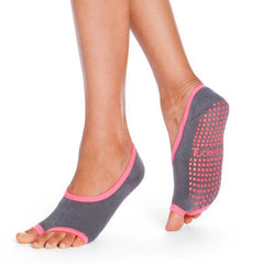 Ballerina - Grey/Pink Duo - Grip Socks