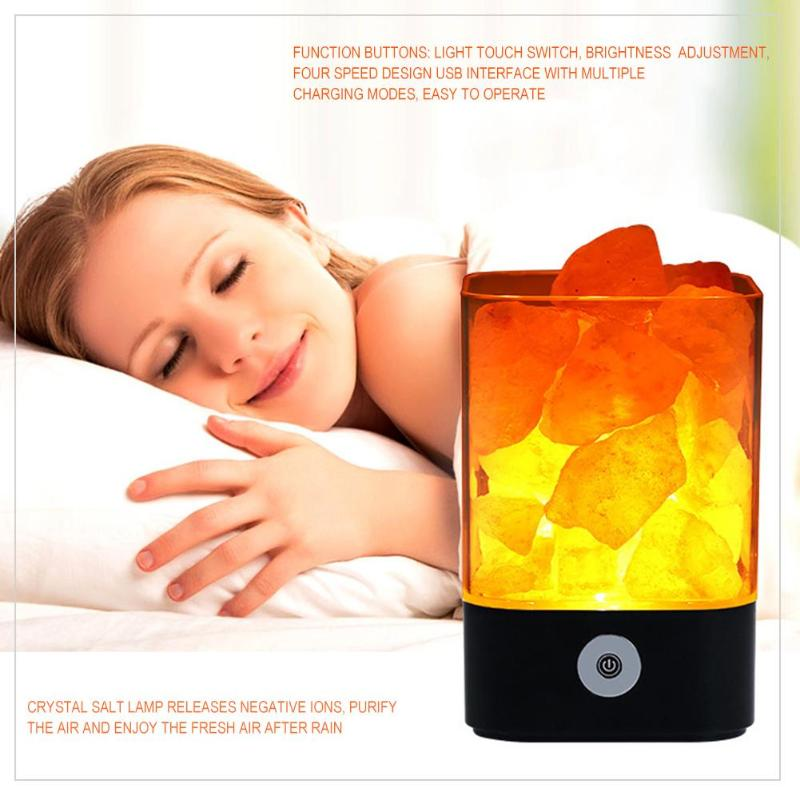 USB Crystal Light Natural Himalayan Led Lamp