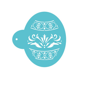 Easter Eggs Shape Faberge Pattern Cookie Stencil