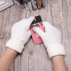 Solid Soft Female Gloves