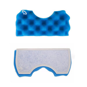 2set Blue Sponge Filter + White Cotton Hepa Filter