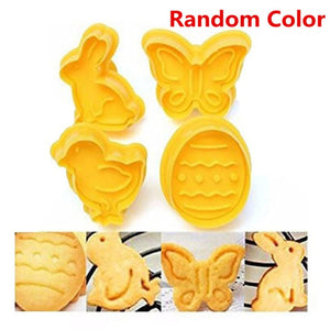 4pcs Easter Cookie Stamp