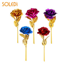 Load image into Gallery viewer, 24K Gold Plated Golden Rose Flower
