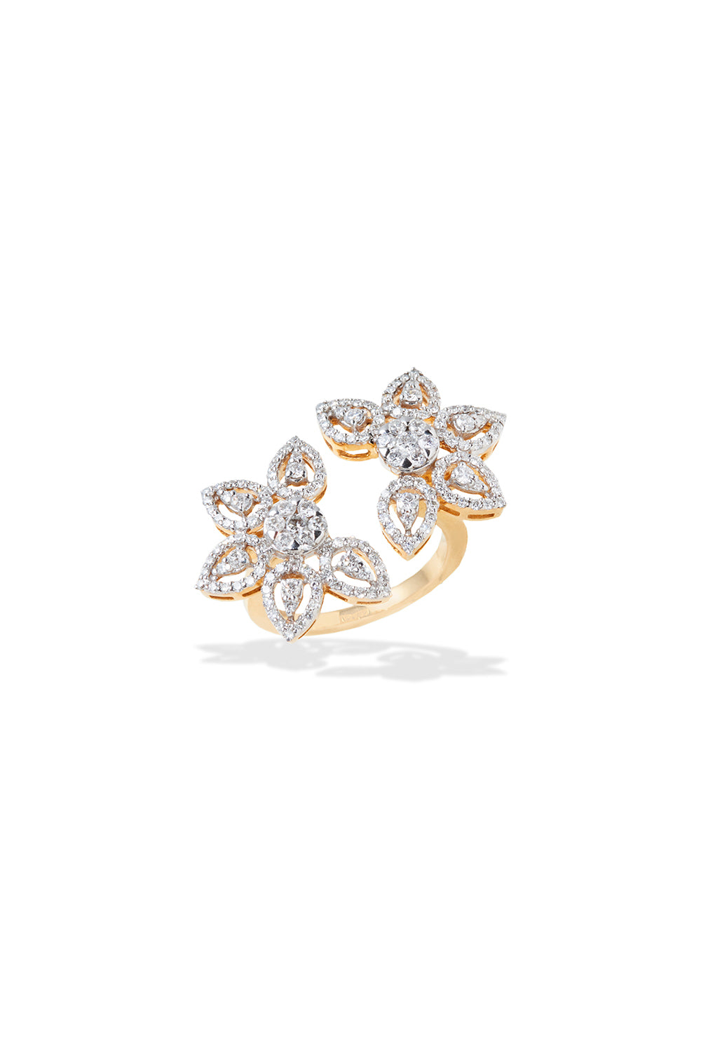 Double Flower Ring - GOLDKARAT