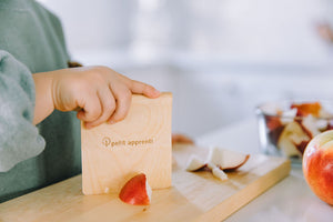 petit apprenti wooden knife for kids children cutting knife toddler kitchen knife and cutting board couteau pour enfants