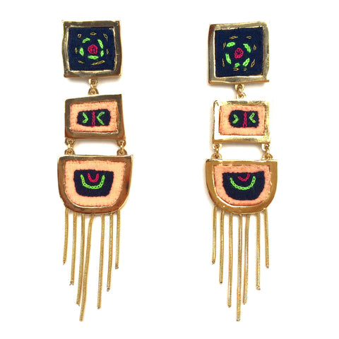 Kuna (Tule) Earrings - Blossom Rain