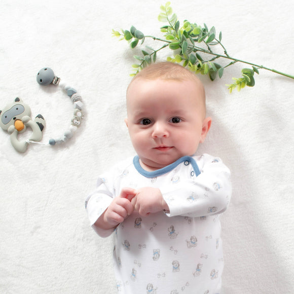 https://pimababy.co.uk/collections/all-products/products/baby-boy-doggies-and-paws-bodysuit-1-to-3-months-100-pima-cotton-baby-shower-gifts