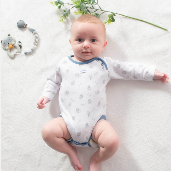 Doggies and Paws Bodysuit – 1 to 3 months - 100% Pima Cotton - Pima Baby