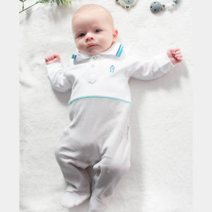 Rocket Boy Outfit – Embroidered Motif - 1 to 3 months - 100% Pima Cotton - Pima Baby
