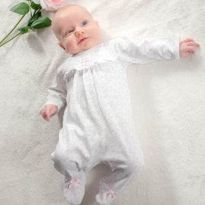 Floral and Ribbon Outfit – 1 to 3 months - 100% Pima Cotton - Pima Baby