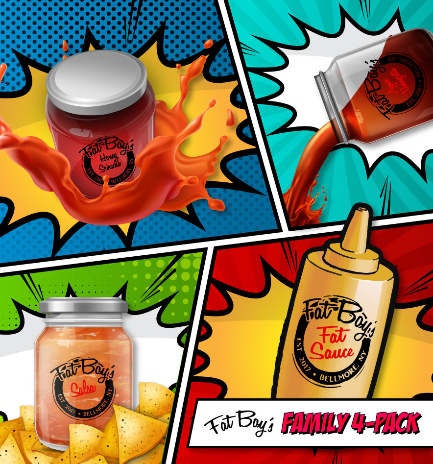Fat Boy's Family 4-Pack of Sauces