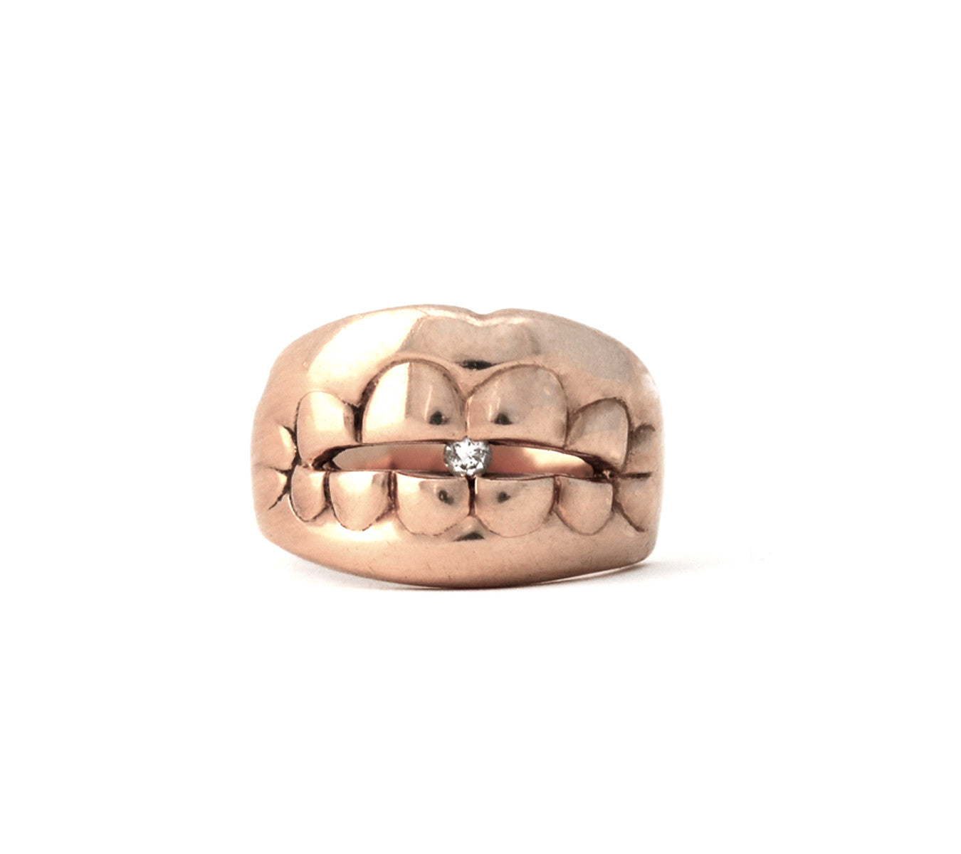 14k Gold Unisex Bite Ring