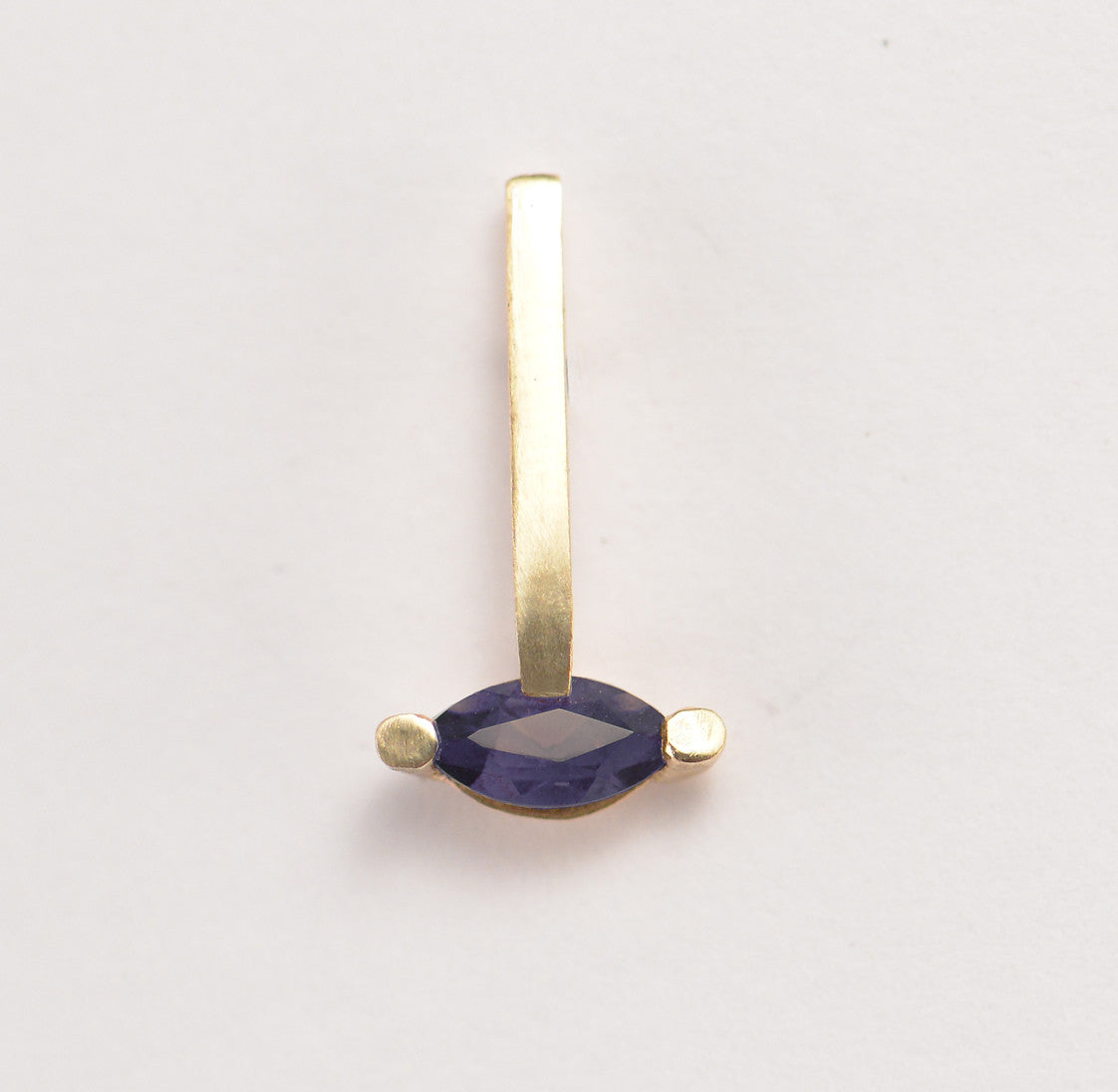 Iolite Marquise  Bar Earring