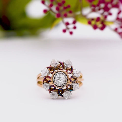 The Antique Spiral Galaxy Diamond Ring