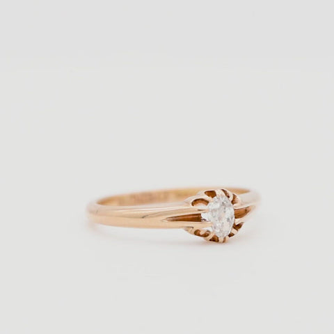 The Antique 1920 Pear Drop Solitaire Diamond Ring