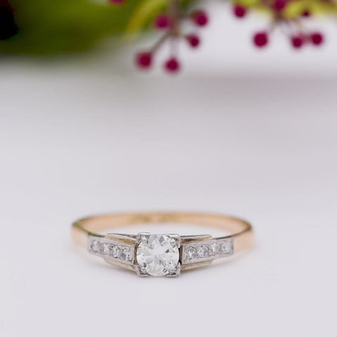 The Vintage Square Set Diamond Engagement Ring