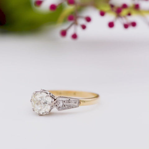 The Vintage Bold Shouldered Diamond Ring