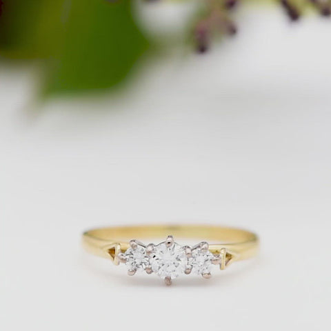 The Carved Loop Diamond Engagement Ring