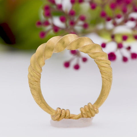 The Rare Viking Age Wearable Ancient Artefact Gold Wedding Band