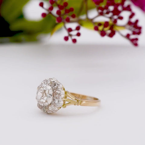 The Antique Early Victorian Standout Cluster Diamond Ring